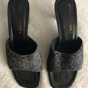 Donald J. Pliner textured animal print sandals